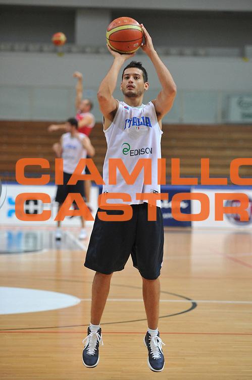 DESCRIZIONE : Trento Primo Trentino Basket Cup Nazionale Italia Maschile <br /> GIOCATORE : Massimo Chessa<br /> CATEGORIA : allenamento<br /> SQUADRA : Nazionale Italia <br /> EVENTO :  Trento Primo Trentino Basket Cup<br /> GARA : Allenamento<br /> DATA : 25/07/2012 <br /> SPORT : Pallacanestro<br /> AUTORE : Agenzia Ciamillo-Castoria/M.Gregolin<br /> Galleria : FIP Nazionali 2012<br /> Fotonotizia : Trento Primo Trentino Basket Cup Nazionale Italia Maschile<br /> Predefinita :