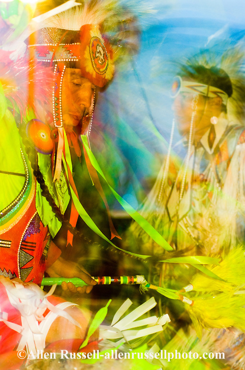 Fancy Dancers, Crow Fair Powwow, Crow Indian Reservation in Montana