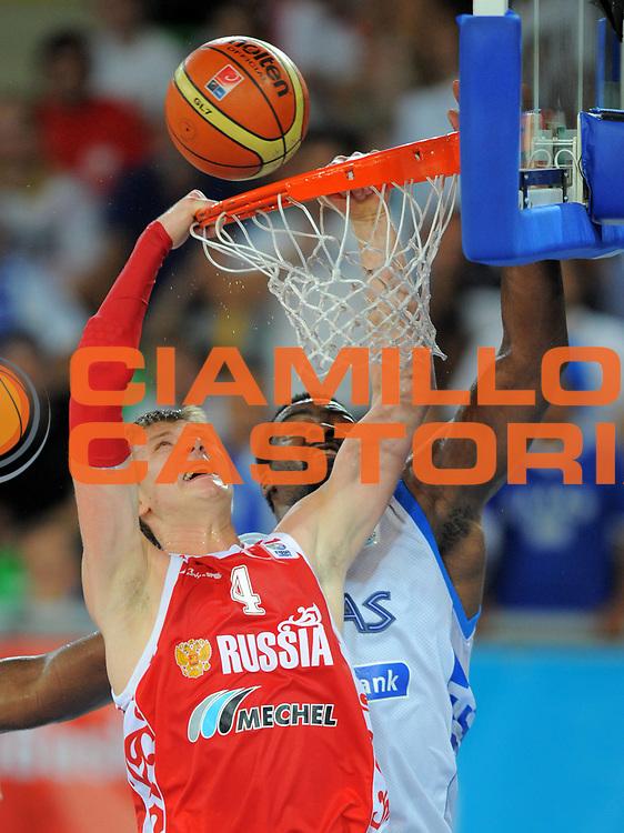 DESCRIZIONE : Bydgoszcz Poland Polonia Eurobasket Men 2009 Qualifying Round Grecia Russia Greece Russia<br /> GIOCATORE : Andrey Vorontsevich<br /> SQUADRA : Russia<br /> EVENTO : Eurobasket Men 2009<br /> GARA : Grecia Russia Greece Russia <br /> DATA : 13/09/2009 <br /> CATEGORIA :<br /> SPORT : Pallacanestro <br /> AUTORE : Agenzia Ciamillo-Castoria/T.Wiedensohler<br /> Galleria : Eurobasket Men 2009 <br /> Fotonotizia : Bydgoszcz Poland Polonia Eurobasket Men 2009 Qualifying Round Grecia Russia Greece Russia<br /> Predefinita :