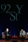 Mos Def and Anthony DeCurtis in Conversation with Anthony DeCurtis in the Kaufman Concert Hall at The 92 Street Y on thursday February 28, 2008..Regarded as one of hip-hop's most insightful artists, Mos Def has shaped a career that transcends genres. His groundbreaking collaboration with fellow rapper Talib Kweli in Black Star; his distinctive and daring solo work, and his acting, both in film and theater, have earned him Grammy, Emmy, Golden Globe and NAACP Image Award nominations. Add to that his activism, most recently in the Jena six case, and you have a portrait of an artist fully engaged with the issues of his times. Mos Def discusses his music, his acting, his social and political perspective, and his vision of the role that artists must play in the public world. Anthony DeCurtis is a contributing editor for Rolling Stone and the author of In Other Words: Artists Talk About Life and Work..