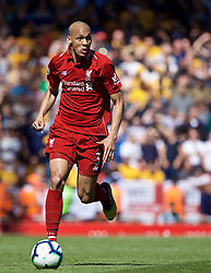 LIVERPOOL, ENGLAND - Sunday, May 12, 2019: Liverpool's Fabio Henrique Tavares 'Fabinho' during the final FA Premier League match of the season between Liverpool FC and Wolverhampton Wanderers FC at Anfield. (Pic by David Rawcliffe/Propaganda)
