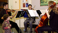 2011 - Centerville High School Orchestra quartet at CW library