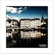 Honfleur, Normandie, France - Colour version. Inkjet pigment print on Canson Infinity Rag Photographique 310gsm 100% cotton museum grade Fine Art and photo paper.<br />