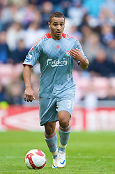 SUNDERLAND, ENGLAND - Saturday, August 16, 2008: Liverpool's Nabil El Zhar in action against Sunderland during the opening Premiership match of the season at the Stadium of Light. (Photo by David Rawcliffe/Propaganda)