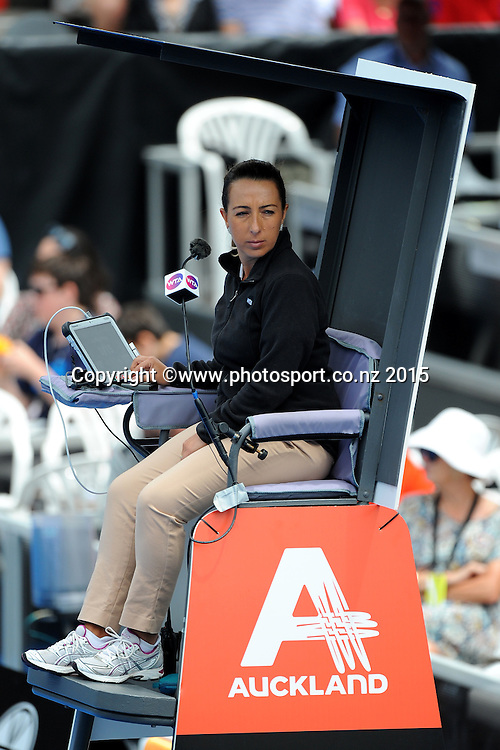 Chair Umpire during Quarter Finals Day of the ASB Classic Women's International. ASB Tennis Centre, Auckland, New Zealand. Thursday 8 January 2015. Copyright photo: Chris Symes/www.photosport.co.nz
