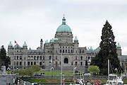 Victoria, British Columbia, Canada. British Columbia Parliament Buildings home of the Legislative Assembly of British Columbia.