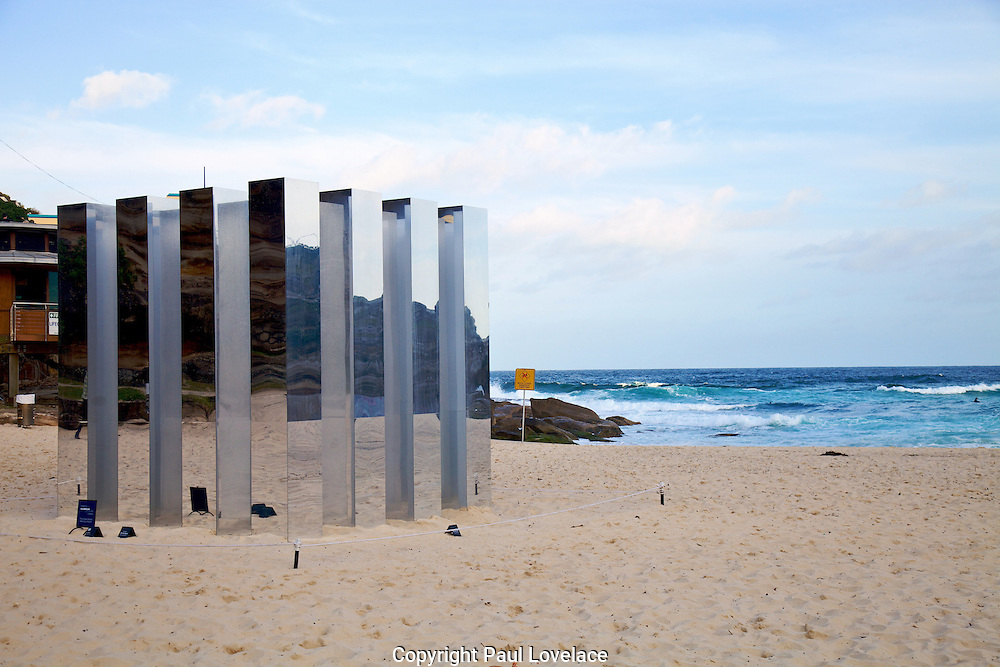 Sculpture By The Sea, Bondi, Sydney..The world's largest annual free-to-the-public outdoor sculpture exhibition, Sculpture by the Sea, Bondi. 23.10.12.Kalidoscop by Alex Ritchie.