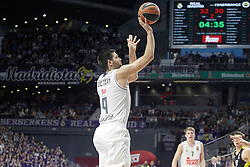 03.12.2015, Palacio de los Deportes, Madrid, ESP, FIBA, EL, Real Madrid vs Fenerbahce Ulker Istanbul, Halbfinale, im Bild Real Madrid's Felipe Reyes // during thesemifinall Match of the Turkish Airlines Basketball Euroleague between Real Madrid and Fenerbahce Ulker Istanbul at the Palacio de los Deportes in Madrid, Spain on 2015/12/03. EXPA Pictures © 2015, PhotoCredit: EXPA/ Alterphotos/ Acero<br /> <br /> *****ATTENTION - OUT of ESP, SUI*****