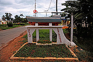Town entry sign in Puerto Esperanza, Pinar del Rio, Cuba.