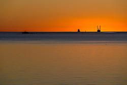 Solnedgang ved Sædding