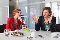 15 OCT 2019, BERLIN/GERMANY:<br /> Katja Kipping (L), Die Linke, Prteivorsitzende, und Katrin Goering-Eckardt (R), B90/Gruene, Fraktionsvorsitzende, wahrend einem Doppeninterview, Hauptstadtredaktion Rheinsche Post<br /> IMAGE: 20191015-01-003<br /> KEYWORDS: Göring-Eckardt