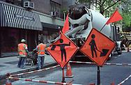 Workmen on Madison Avenue, New York City.