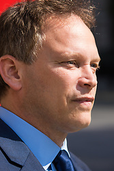 Whitehall, London, July 31st 2015. Grant Shapps, Minister of State for Foreign and Commonwealth Affairs leaves the cabinet office following a COBRA meeting to discuss the ongoing refugee crisis in Calais.
