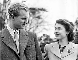 Nov. 23, 1947 - Broadlands, Hampshire, U.K. - Daughter of King George VI and Queen Elizabeth, ELIZABETH WINDSOR (named Elizabeth II) became Queen at the age of 25, and has reigned through more than five decades of enormous social change and development. PICTURED: QUEEN ELIZABETH II and PRINCE PHILIP during their honeymoon. (Credit Image: © Keystone Press Agency/Keystone USA via ZUMAPRESS.com)