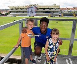 Bristol Rovers' Ellis Harrison has his photo taken with fans - Photo mandatory by-line: Dougie Allward/JMP - Mobile: 07966 386802 27/07/2014 - SPORT - FOOTBALL - Bristol - Bristol Rovers - - Memorial Stadium - Fun Day
