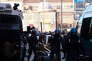 Roma 14 Dicembre 2010.<br /> Manifestazione contro il Governo Berlusconi. I manifestanti assaltono i mezzi della polizia  a via del Corso<br /> Rome December 14, 2010.<br /> Demonstration against the Berlusconi government. Protesters attack police