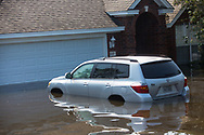 Sept 1, 2017 flooded car in Vidor, Texas. Hurricane Harvey, was downgraded to a tropical storm when it flooded Vidor, Texas and the surrounding area.