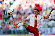 Poland's Robert Lewandowski during international friendly match between Poland and Lithuania at PGE Arena in Gdansk, Poland.<br /> <br /> Poland, Gdansk, June 06, 2014<br /> <br /> Picture also available in RAW (NEF) or TIFF format on special request.<br /> <br /> For editorial use only. Any commercial or promotional use requires permission.<br /> <br /> Mandatory credit:<br /> Photo by &copy; Adam Nurkiewicz / Mediasport