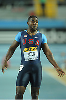 ATHLETICS - WORLD CHAMPIONSHIPS INDOOR 2012 - ISTANBUL (TUR) 09 to 11/03/2012 - PHOTO : STEPHANE KEMPINAIRE / KMSP / DPPI - <br /> 100 M - MEN - ROUND 1 - JUSTIN GATLIN (USA)