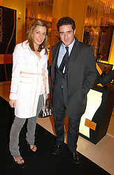 MELISSA DEL BONO and her brother LUCA DEL BONO at a reception for the winners of the 2006 Veuve Clicquot Award - Business Woman of the Year held at Claridge's Hotel, brook Street, London on 27th April 2006.  This years winner was Vivienne Cox, BP CEO for Gas, Power, Renewables and Integrated Supply & Trading.  The awards were presented by the Rt.Hon.Gordon Brown MP - The Chancellor of the Exchequer.<br />