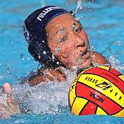 Katja Liebing/Sports Shooter Academy<br /> Fullerton's Veronica Ramirez goes for the ball in a game against Cypress College during the Orange Empire Conference' Water Polo Championships in Mission Viejo on Thursday, Nov. 3, 2016.