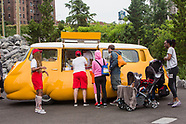 Installation Open at Pier 5 - Hot Dog Bus