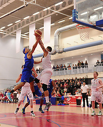Bristol Flyers' Greg Streete scores a basket  - Photo mandatory by-line: Joe Meredith/JMP - Mobile: 07966 386802 - 21/02/2015 - SPORT - Basketball - Bristol - SGS Wise Campus - Bristol Flyers v Plymouth Uni Raiders - British Basketball League