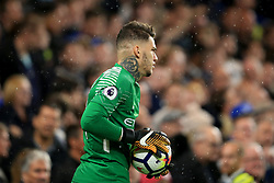 30 September 2017 -  Premier League - Chelsea v Manchester City - Elaborate tattoos on the neck of Manchester City goalkeeper Ederson - Photo: Marc Atkins/Offside