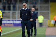 Carlisle United Manager Keith Curle during the Sky Bet League 2 match between Carlisle United and Mansfield Town at Brunton Park, Carlisle, England on 9 April 2016. Photo by Craig McAllister.