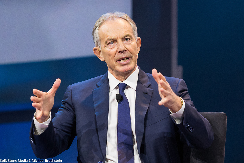 Former Prime Minister of the United Kingdom Tony Blair addressing the 2017 American Israel Public Affairs Committee (AIPAC) Policy Conference in Washington, D.C.