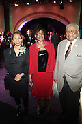 l to r: Hattie Brown, Lorretta Donaldson, Lawrence Howard  at The Abyssinian Baptist Church kicks-off The Abyssinian Fund Benefit held at the Harlem Gate House on December 5, 2009 in Harlem, New York City..The Abyssinian Fund is committed to reducing poverty in Ethiopia by working with partner organizations, farming cooperatives and community residents to improve healthcare, education and access to clean water.