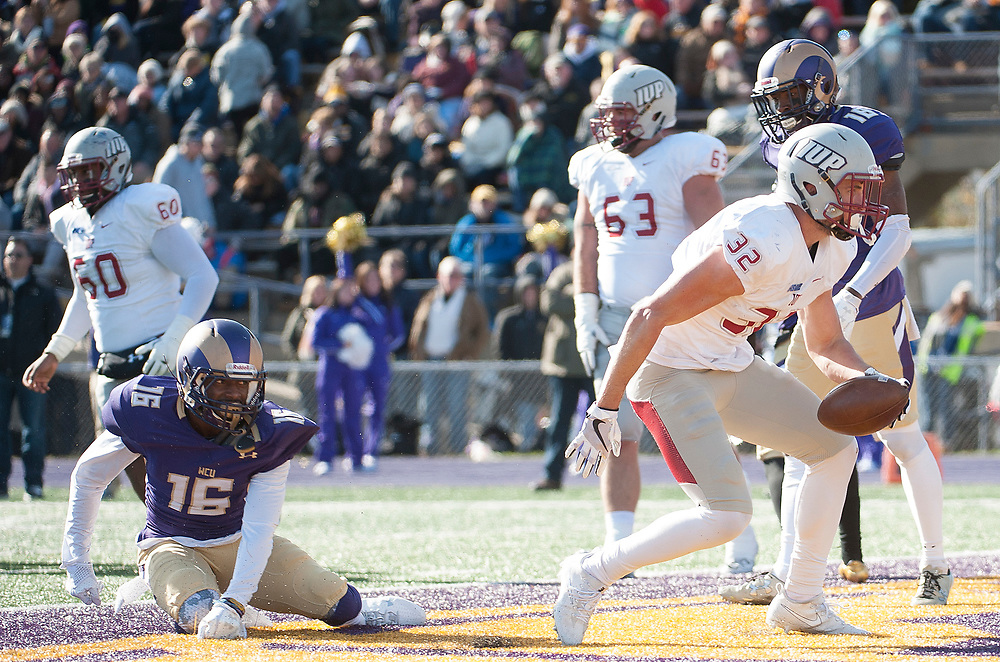 Indiana University of University play at West Chester University in the 2017 PSAC Championship Game at West Chester University. November 11, 2017. <br /> <br /> By Jack Megaw.<br /> <br /> <br /> <br /> www.jackmegaw.com<br /> <br /> jack@jackmegaw.com<br /> @jackmegawphoto<br /> [US] +1 610.764.3094<br /> [UK] +44 07481 764811