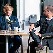 NLD/Staverden/20121004- Huwelijk schaatsster Marianne Timmer met voetbalkeeper Henk Timmer, modeontwerper Addy van den Krommenacker met partner Bas Meulenbroek