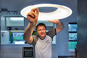 CSR 8 Star Energy Effient House. Make use of highly efficient appliances & fittings. Nathan Benton, Construction Supervisor, CSR Innovations. Photo By Craig Sillitoe