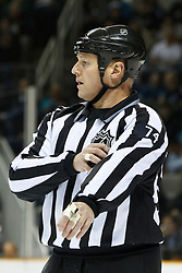 December 13, 2010; San Jose, CA, USA;  NHL linesman Lonnie Cameron (74) during the first period between the San Jose Sharks and the Dallas Stars at HP Pavilion.  Dallas defeated San Jose 3-2 in shootouts. Mandatory Credit: Jason O. Watson / US PRESSWIRE