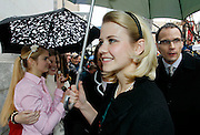 Elizabeth Smart walks away after giving a statement to the media outside federal court following a guilty verdict in the Brian David Mitchell trial Friday, December 10 2010 in Salt Lake City. Mitchell was found guilty for the June 5 2002 abduction of the 23-year-old. (AP Photo/Colin E Braley)