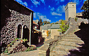 France, Languedoc and Roussillon.  Le Couvertoirade.  Fortified village/ramparts.