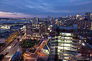 New York . elevated view.  the cityscape view from the standard hotel in the meat packet district New york - United states   / le panorama de new york vu depuis le standard hotel dans le quartier de meat packet.  New york - Etats unis