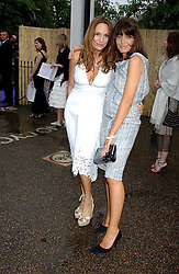 Left to right, EMILY OPPENHEIMER and CLAUDIA WINKLEMAN at the annual Serpentine Gallery Summer Party co-hosted by Jimmy Choo shoes held at the Serpentine Gallery, Kensington Gardens, London on 30th June 2005.<br />