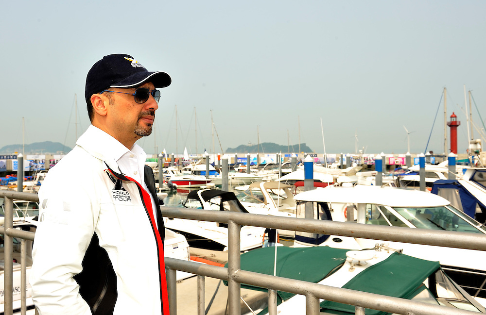 WMRT Executive Chairman, Patrick Lim, checks out the Jeongok Marina. Photo:Chris Davies/WMRT