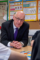 Pictured: John Swinney in the Literacy hub<br /><br />The Deputy First Minister visited Holy Rood High School in Edinburgh today to meet parents and pupils before announcing GBP50 million funding for improving attainment.  The results of a survey of headteachers were also published during the Deputy First Minister's visit.<br /><br /> Ger Harley | EEm 30 May 2019