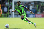 Forest Green Rovers Ebou Adams(14) runs forward during the EFL Sky Bet League 2 match between Forest Green Rovers and Newport County at the New Lawn, Forest Green, United Kingdom on 31 August 2019.