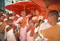 Women Monks in Burma - Photograph by Owen Franken