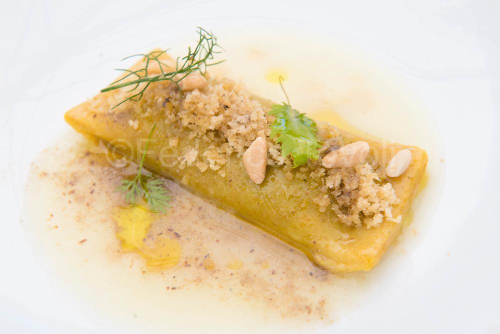 Pasta stuffed with sardines, a creation of Gioacchino Gaglio at gagini restaurant