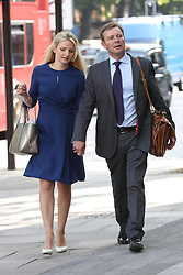 July 4, 2017 - London, London, United Kingdom - Image licensed to i-Images Picture Agency. 04/07/2017. London, United Kingdom. Conservative MP Craig Mackinlay and his wife arriving at Westminster Magistrates Court in London. Picture by Stephen Lock / i-Images (Credit Image: © Stephen Lock/i-Images via ZUMA Press)