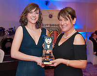 Overall Outstanding Award -Contribution went to GMIT student Katherine Long from Mountbellew presented by Ability West CEO Breda Crehan-Roche at the Ability West, Best Buddies ball at the Menlo Park Hotel, Galway. Photo:Andrew Downes Photography.