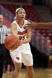 21 December 2015: Katrina Beck(13). Illinois State University Women's Basketball team hosted The Cougars of Chicago State at Redbird Arena in Normal Illinois.