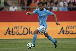 August 15, 2017 - Girona, Spain - 20 Bernardo Silva from Portugal of Manchester City  during the Costa Brava Trophy match between Girona FC and Manchester City at Estadi de Montilivi on August 15, 2017 in Girona, Spain. (Credit Image: © Xavier Bonilla/NurPhoto via ZUMA Press)