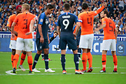 Antoine Griezmann (FRA), Olivier Giroud (FRA), Raphael Varane (FRA), Virgil Van Dijk (NDL), Matthijs De Ligt (NDL), Daley Blind (NDL) during the UEFA Nations League, League A, Group 1 football match between France and Netherlands on September 9, 2018 at Stade de France stadium in Saint-Denis near Paris, France - Photo Stephane Allaman / ProSportsImages / DPPI