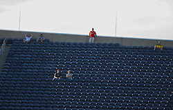 CHICAGO, USA - Sunday, July 27, 2014: A few Liverpool supporters during the International Champions Cup Group B match against Olympiacos at the Soldier Field Stadium on day seven of the club's USA Tour. (Pic by David Rawcliffe/Propaganda)